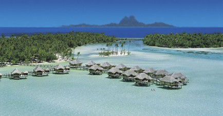 Aerial View Overwater Bungalows 2