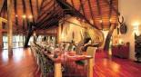 Dining in safari lodge