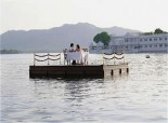 Taj Lake Palace - Private dining on the lake